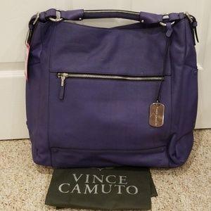 NWT! VINCE CAMUTO Purple Leather Purse